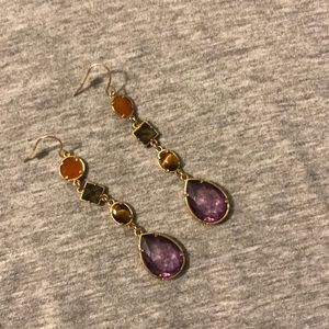 Beautiful colored stone earrings